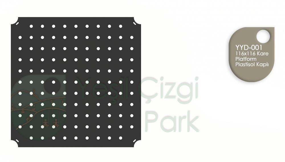 116x116 Kare Platform Plastisol Kaplı